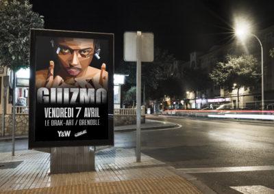 Affiche de concert et pochette d'album (fictif) – Guizmo