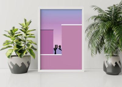 Paysage minimaliste inspiré d'une photo de Andria Darius Pancrazi